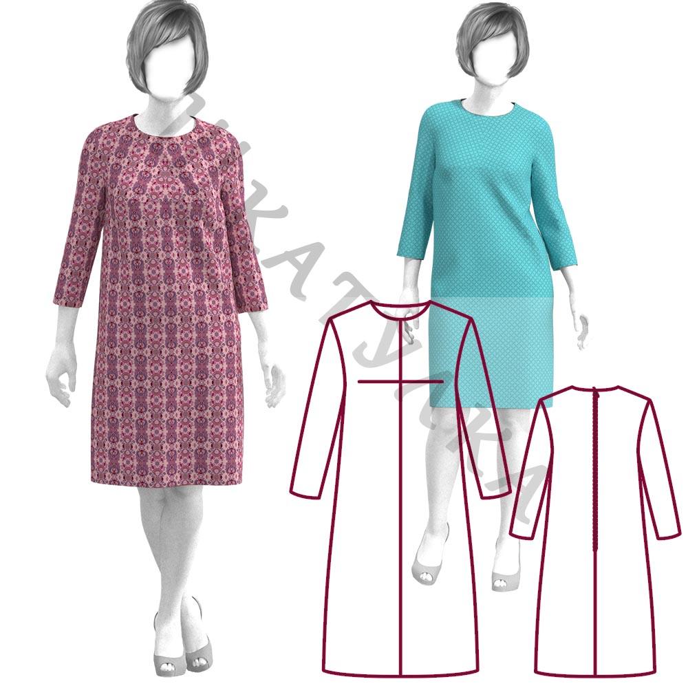 Выкройка платья с центральной вытачкой WD141019