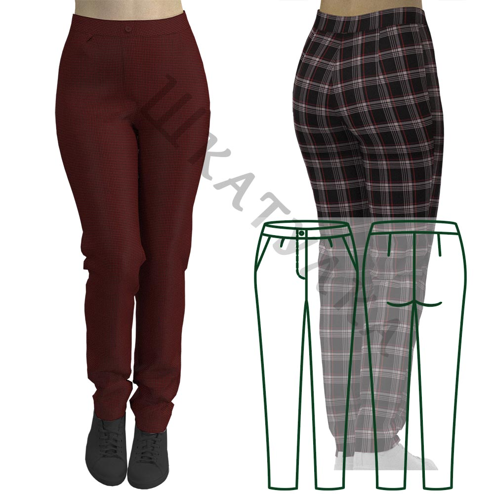 Выкройка женских брюк WP241019