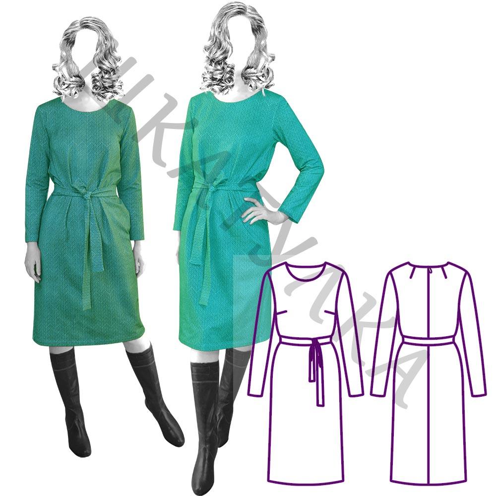 Выкройка простого платья WD101219