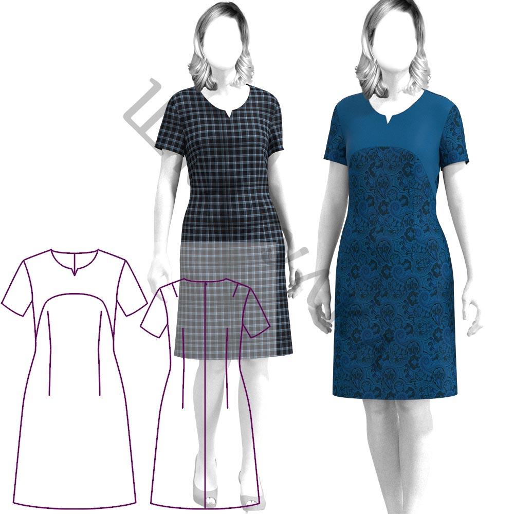 Выкройка платья WD100120