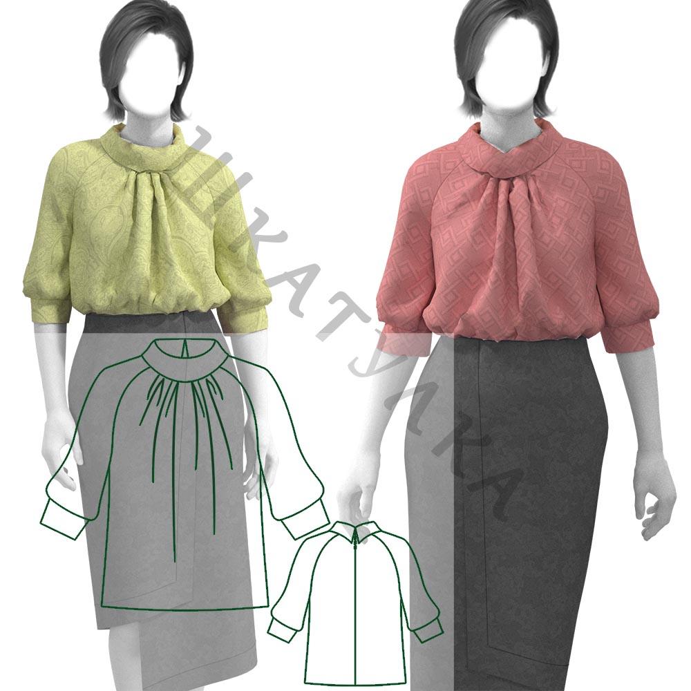 Выкройка женской блузки WT201219
