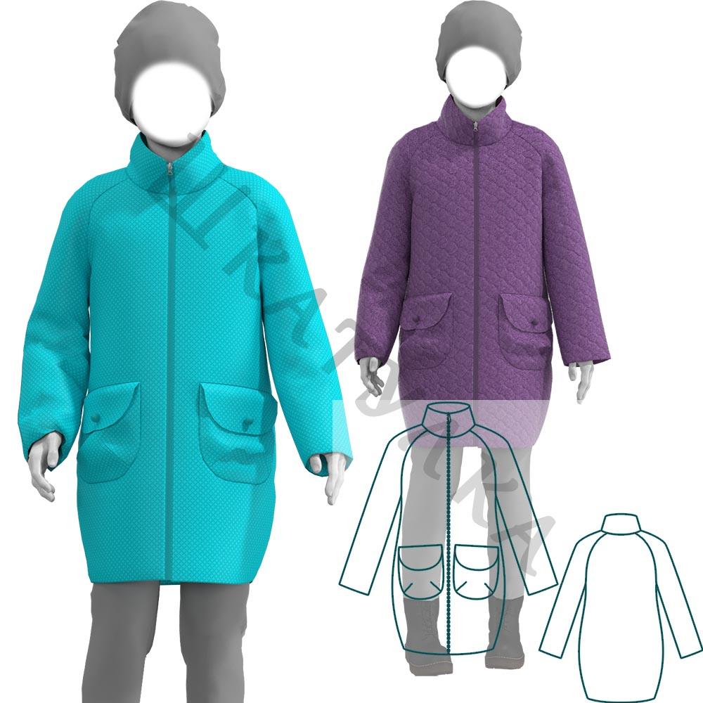 Выкройка детского демисезонного пальто на утеплителе KC280220