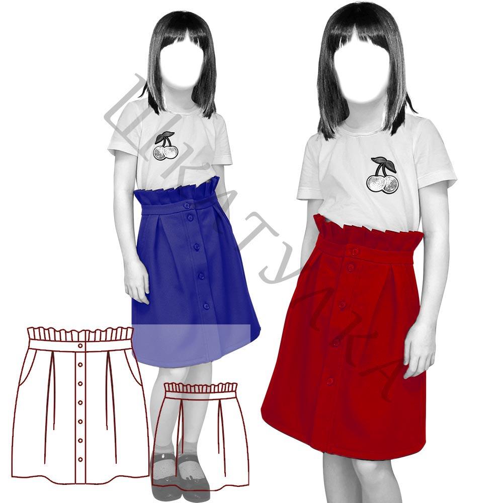 Выкройка детской юбки KS270320
