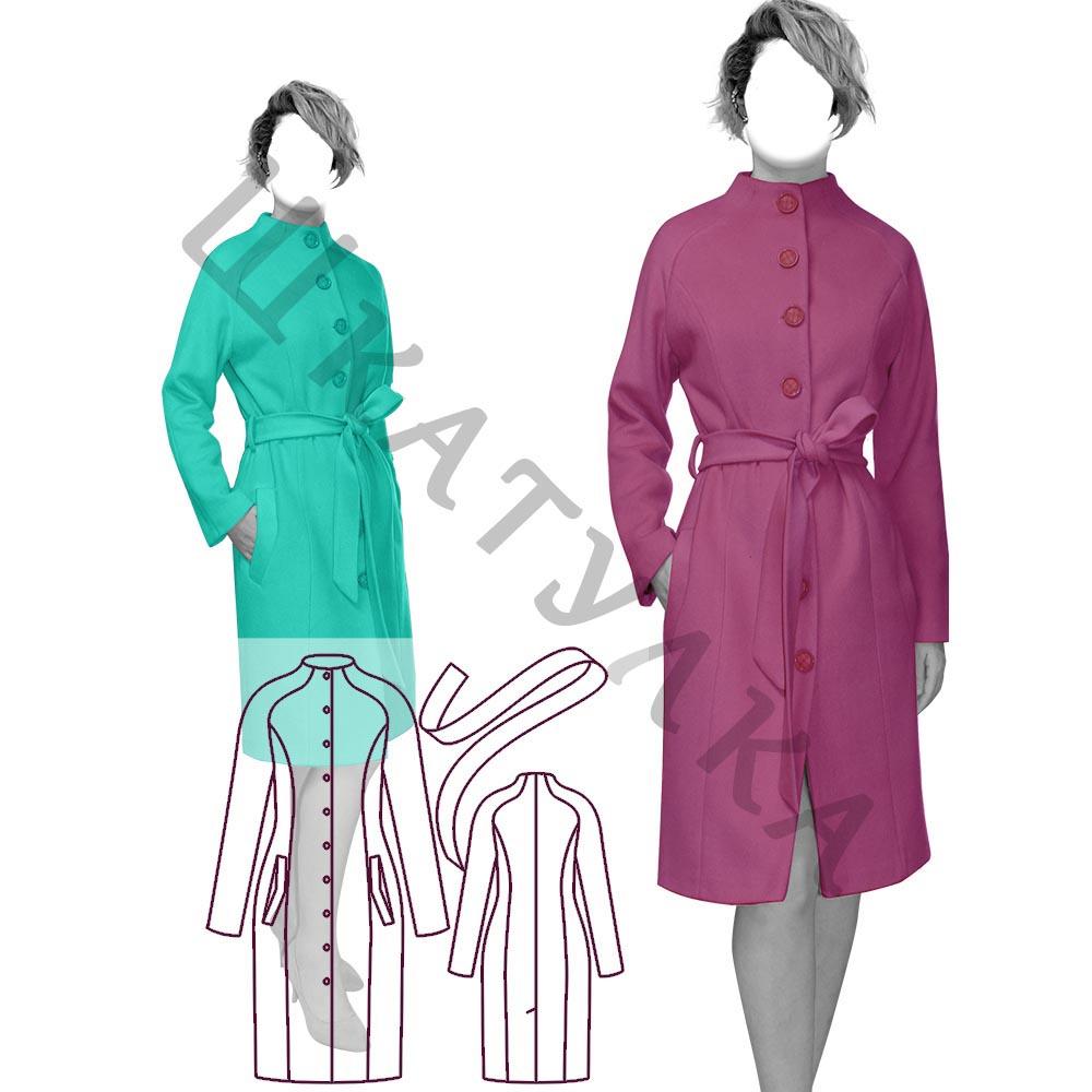 Выкройка демисезонного пальто реглан WC240320