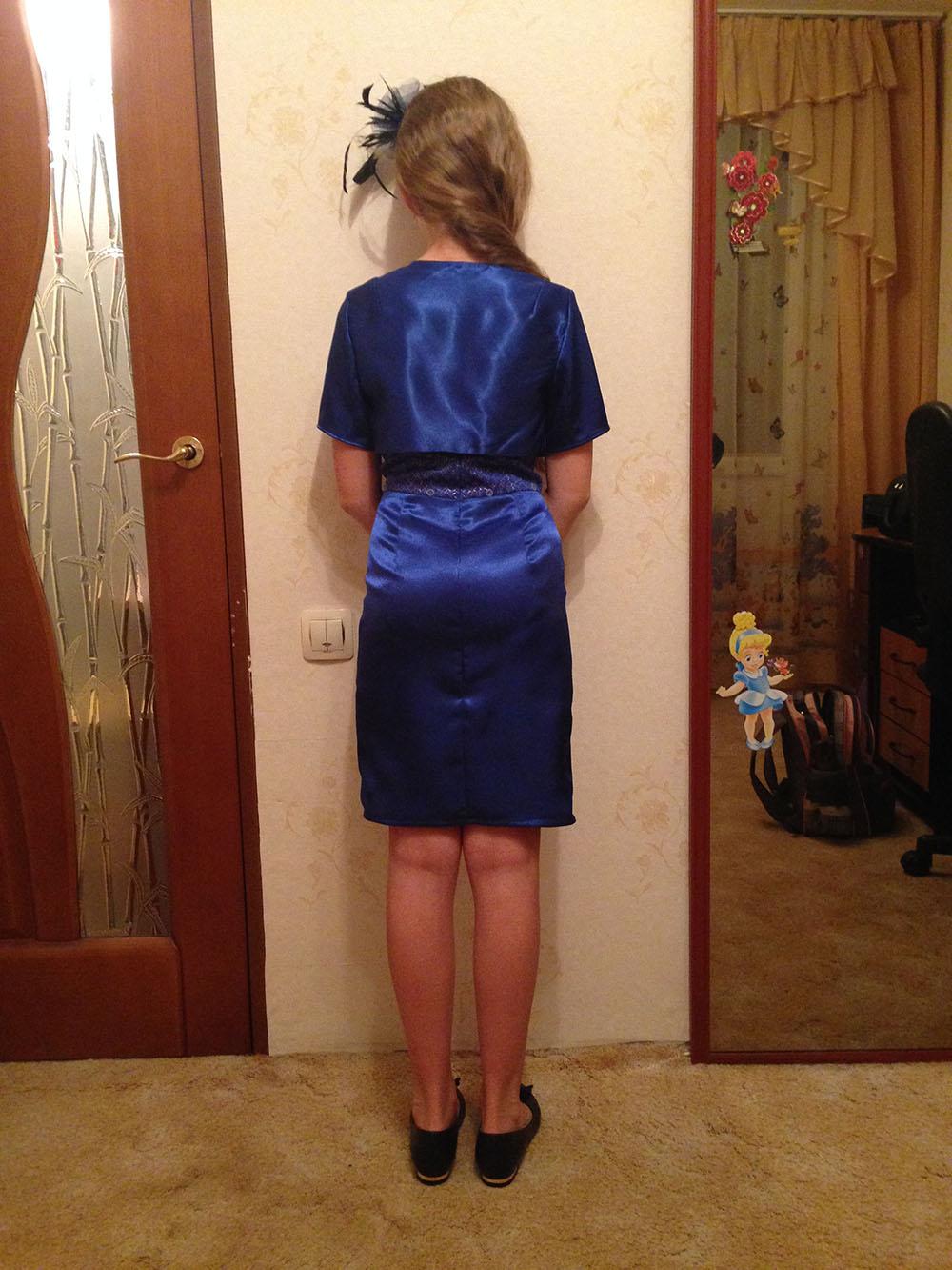 Платье своими руками с баской 21