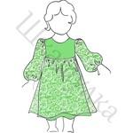 Выкройка кружевного платья для девочки