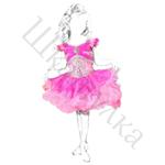 Выкройка платья-кекс для девочки