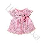 Выкройка платья с рукавом-реглан для малышки