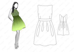 Платье D12 - готовая выкройка