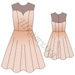 Платье с отрезной юбкой - выкройка.
