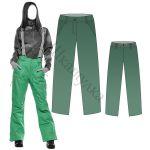 Выкройка женских утепленных брюк