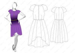 Платье D111 - готовая выкройка
