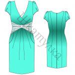 Выкройка платья для беременных WD180515