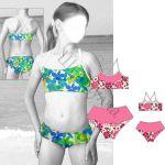 Выкройка купальника-бикини для девочки