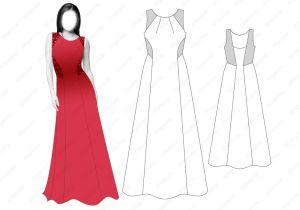 Платье D18 - готовая выкройка