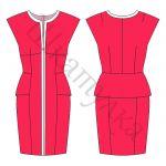 Выкройка платья со спущенным плечом WD160316