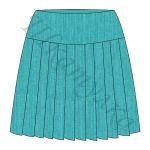 Выкройка юбки со складками