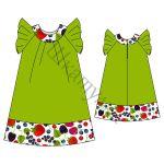 Выкройка платья для девочки KD260617