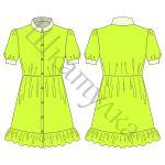 Выкройка платья-рубашки WD040717