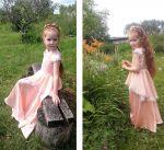 Мастер-класс: персиковое платье для девочки