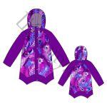Выкройка утепленной куртки для девочки KP120917