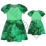 Выкройка платья для девочки KD171117