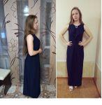Платье с бантовой складкой для сестры
