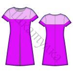 Выкройка женского платья А-силуэта WD051217