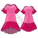 Выкройка свободного платья-туники WD250118