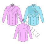 Выкройка женской блузки с рельефами WT270218