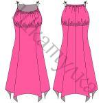 Выкройка платья с бретелями WD270418