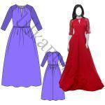 Выкройка вечернего платья WD111218