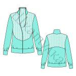 Выкройка женской трикотажной куртки WH261218