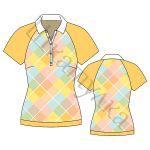 Выкройка рубашки-поло с рукавом реглан WT060119
