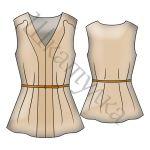 Выкройка женской блузки WT110119