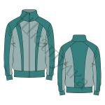 Выкройка мужской спортивной куртки MJ150119