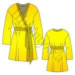 Выкройка женского шелкового халата WD150219