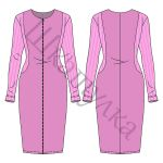Выкройка трикотажного платья с застежкой-молнией WD040319