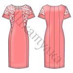 Выкройка платья-футляр WD140319