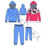 Выкройка базового спортивного детского костюма KK160419