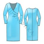 Выкройка женского трикотажного платья WD190419