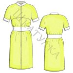 Выкройка спортивного платья WD210619