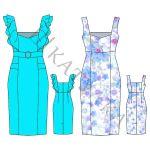 Выкройка платья WD150719