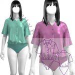 Выкройка блузки-боди WT050919