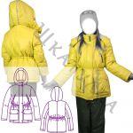 Выкройка зимней детской куртки KP160919