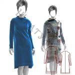Выкройка теплого платья WD190919
