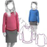 Выкройка детской футболки с длинным рукавом KT211019