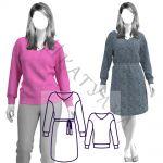 Выкройка платья и свитшота 2 в 1 WD071119