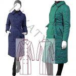 Выкройка зимнего пальто из стеганного материала WC141119