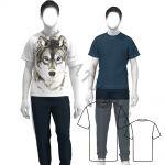 Выкройка мужской футболки среднего объема MT211119